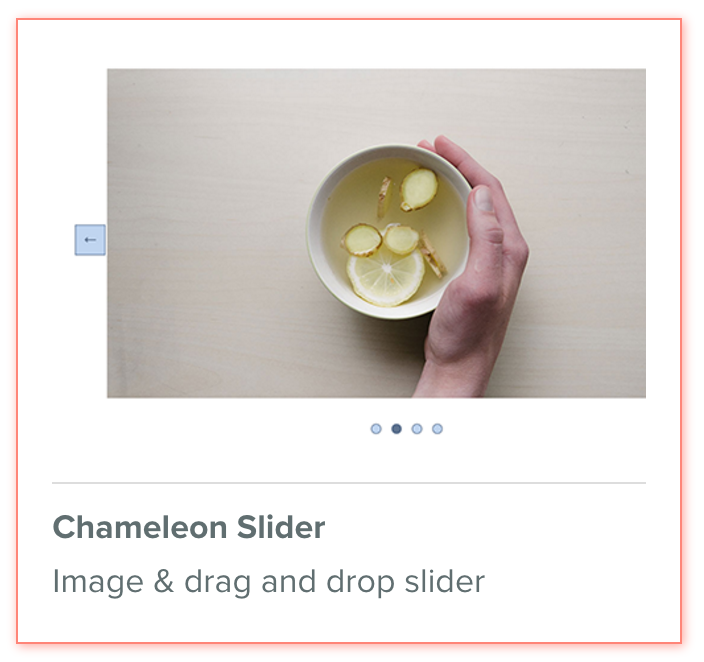 Chameleon Slider, responsive drag and drop slider for Weebly