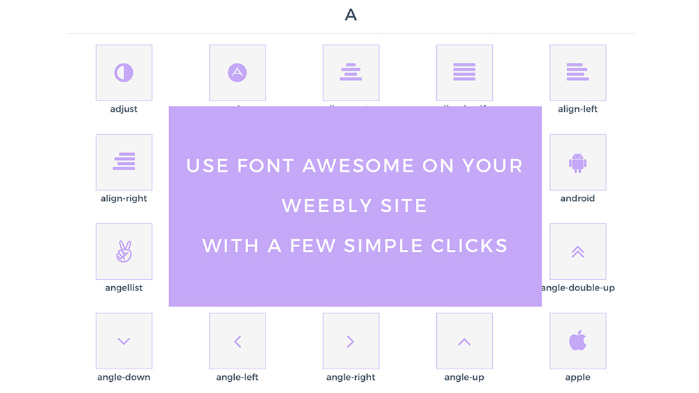 Wawesome, font awesome icons for Weebly